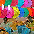 Women Working Together At Borsang Umbrella And Paper Factory In Chiang Mai-thailand by Ruth Hager