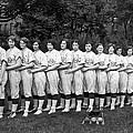 Women's Baseball Team by Underwood Archives