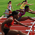 Womens Hurdles 3 by Bob Christopher