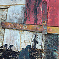 Wood And Metal Abstract by Jill Battaglia