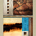 Wood And Stone Rectangular Textures by Elaine Plesser