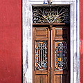 Wood And Wrought Iron Doorway In Merida by Mark E Tisdale