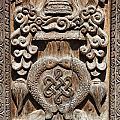Wood Carving At Bhaktapur In Nepal by Robert Preston