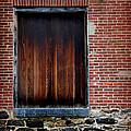 Wood Window Brick Wall by Karen Adams