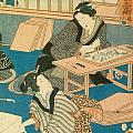 Woodblock Production by Japanese School