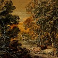 Wooded Landscape With Herdsman And Cattle by Thomas Gainsborough
