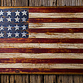 Wooden American Flag On Wood Wall by Garry Gay