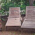 Wooden Beach Chairs by Artist Nandika  Dutt