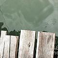 Wooden Board Against Sea Surface by Antoni Halim