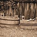Wooden Buckets by Tara Potts