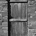 Wooden Door And Stone Wall 1 by Denise Mazzocco