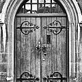 Wooden Door At Tower Hill Bw by Christi Kraft