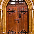 Wooden Door At Tower Hill by Christi Kraft