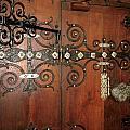 Wooden Doors by Lynn R Morris