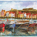 Wooden Fishing Boats In The Whitby Fleet Of Northern England by Dai Wynn