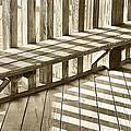 Wooden Lines - Semi Abstract by Brian Wallace