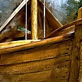 Wooden Mackinaw Boat by Evie Carrier