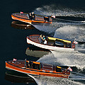 Wooden Runabouts On Lake Tahoe by Steven Lapkin