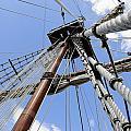 Wooden Ship Mast by Bradford Martin
