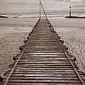 Wooden Slipway Rhos On Sea by Mark Llewellyn