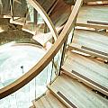Wooden Staircase by Tom Gowanlock