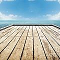 Wooden Surface Sky Background by Tim Hester