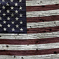 Wooden Textured Usa Flag3 by John Stephens