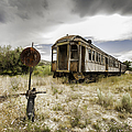 Wooden Train - Final Resting Place  by Fran Riley