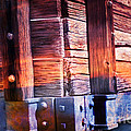 Wooden Wagon Side In Colors by Gunter Nezhoda