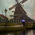 Wooden Windmill In Holland by Juli Scalzi