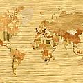 Wooden World Map 2 by Hakon Soreide