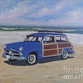 Woodie On Beach by Mark Perry
