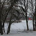 Woodland Farm In Winter by Helen ONeal