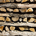 Woodpile. by Bernard Jaubert