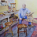 Woodworker Chair Maker by Anna Ruzsan