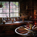 Woodworker - The Wheelwright Shop  by Mike Savad