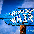 Woody's Wharf Sign Newport Beach Picture by Paul Velgos