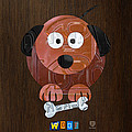 Woof the Dog License Plate Art by Design Turnpike
