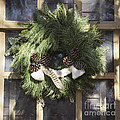 Wool And Feather Wreath by Teresa Mucha