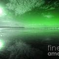 Woolacombe Beach In Green  by Rob Hawkins