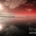 Woolacombe Beach In Red  by Rob Hawkins