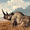 Woolly Rhino And A Marmot by Daniel Eskridge