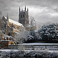 Worcester Cathedral Cloudy by Roy Pedersen