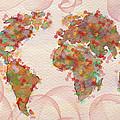 Word Map Digital Art by Georgeta  Blanaru