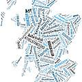 Wordcloud Of Scotland by Antony McAulay