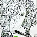Work In Process Self-portrait Inks  by Danielle  Parent