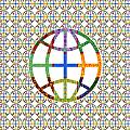 World Globe Earth Travel Graphic Digital Colorful Pattern Signature Art  Navinjoshi Artist Created I by Navin Joshi