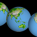 World Globes by Nasa Jpl