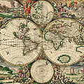 World Map 1689 by Mountain Dreams