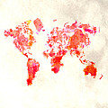 World Map 1h by Brian Reaves